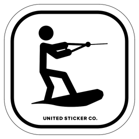 Badge_Stick Figure_Sports & Recreation_Wakeboarding_Vinyl_Sticker