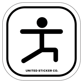 Badge_Stick Figure_Sports & Recreation_Yoga_Vinyl_Sticker