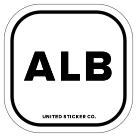 Badge_Lettering_Places_Albania [ ALB ]_Vinyl_Sticker