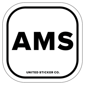 Badge_Lettering_Places_Amsterdam [ AMS ]_Vinyl_Sticker