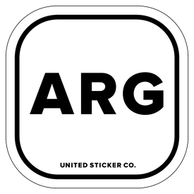 Badge_Lettering_Places_Argentina [ ARG ]_Vinyl_Sticker
