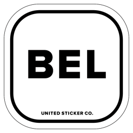 Badge_Lettering_Places_Belgium [ BEL ]_Vinyl_Sticker