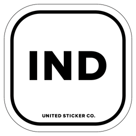 Badge_Lettering_Places_India [ IND ]_Vinyl_Sticker