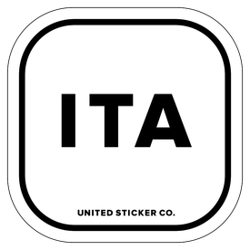 Badge_Lettering_Places_Italy [ ITA ]_Vinyl_Sticker