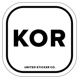 Badge_Lettering_Places_South Korea [ KOR ]_Vinyl_Sticker