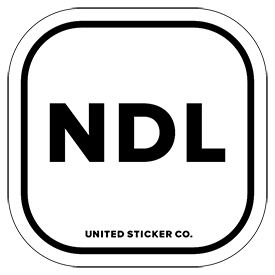 Netherlands [ NDL ] Lettering Badge Sticker