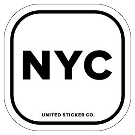Badge_Lettering_Places_New York City [ NYC ]_Vinyl_Sticker