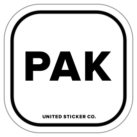 Badge_Lettering_Places_Pakistan [ PAK ]_Vinyl_Sticker