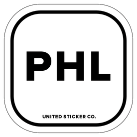 Badge_Lettering_Places_Philadelphia [ PHL ]_Vinyl_Sticker