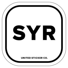Badge_Lettering_Places_Syracuse [ SYR ]_Vinyl_Sticker