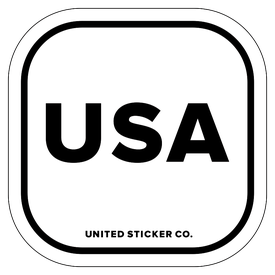 Badge_Lettering_Places_United State of America [ USA ]_Vinyl_Sticker