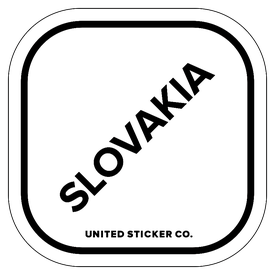 Badge_Lettering_Places_Slovakia_Vinyl_Sticker