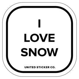 Badge_Lettering_Words & Phrases_[ I Love Snow ]_Vinyl_Sticker