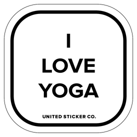 Badge_Lettering_Words & Phrases_[ I Love Yoga ]_Vinyl_Sticker