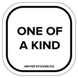 Badge_Lettering_Words & Phrases_[ One of a Kind ]_Vinyl_Sticker