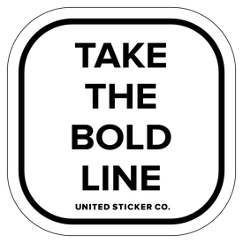 Badge_Lettering_Words & Phrases_[ Take the Bold Line ]_Vinyl_Sticker