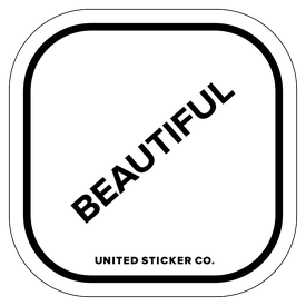 Badge_Lettering_Words & Phrases_[ Beautiful ]_Vinyl_Sticker