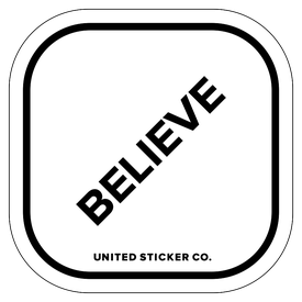 Badge_Lettering_Words & Phrases_[ Believe ]_Vinyl_Sticker