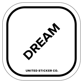 Badge_Lettering_Words & Phrases_[ Dream ]_Vinyl_Sticker