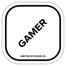 Badge_Lettering_Words & Phrases_[ Gamer ]_Vinyl_Sticker