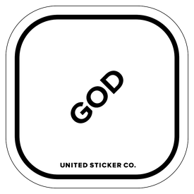Badge_Lettering_Words & Phrases_[ God ]_Vinyl_Sticker