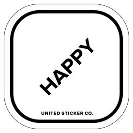 Badge_Lettering_Words & Phrases_[ Happy ]_Vinyl_Sticker