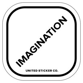 Badge_Lettering_Words & Phrases_[ Imagination ]_Vinyl_Sticker