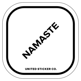 Badge_Lettering_Words & Phrases_[ Namaste ]_Vinyl_Sticker