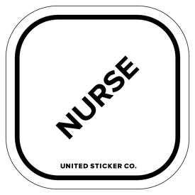 Badge_Lettering_Words & Phrases_[ Nurse ]_Vinyl_Sticker