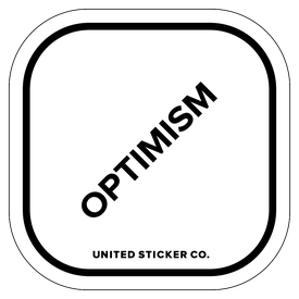 Badge_Lettering_Words & Phrases_[ Optimism ]_Vinyl_Sticker