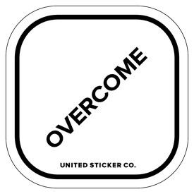 Badge_Lettering_Words & Phrases_[ Overcome ]_Vinyl_Sticker