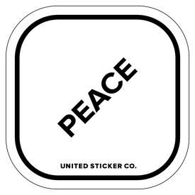 Badge_Lettering_Words & Phrases_[ Peace ]_Vinyl_Sticker