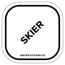 Badge_Lettering_Words & Phrases_[ Skier ]_Vinyl_Sticker