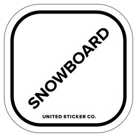 Badge_Lettering_Words & Phrases_[ Snowboard ]_Vinyl_Sticker