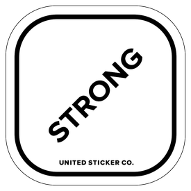 Badge_Lettering_Words & Phrases_[ Strong ]_Vinyl_Sticker