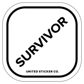 Badge_Lettering_Words & Phrases_[ Survivor ]_Vinyl_Sticker