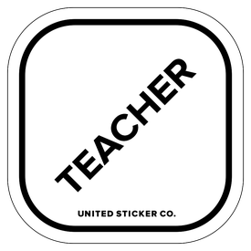 Badge_Lettering_Words & Phrases_[ Teacher ]_Vinyl_Sticker