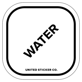 Badge_Lettering_Words & Phrases_[ Water ]_Vinyl_Sticker