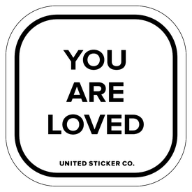 Badge_Lettering_Words & Phrases_[ You Are Loved ]_Vinyl_Sticker