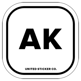 Alaska [ AK ] Lettering Badge Sticker