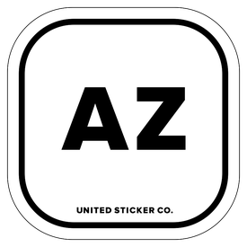 Badge_Lettering_Places_Arizona [ AZ ]_Vinyl_Sticker