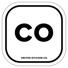 Badge_Lettering_Places_Colorado [ CO ]_Vinyl_Sticker