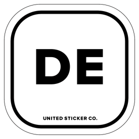 Badge_Lettering_Places_Deleware [ DE ]_Vinyl_Sticker