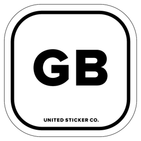 Badge_Lettering_Places_Great Britain [ GB ]_Vinyl_Sticker