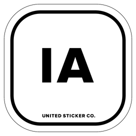 Badge_Lettering_Places_Iowa [ IA ]_Vinyl_Sticker