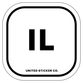 Badge_Lettering_Places_Illinois [ IL ]_Vinyl_Sticker
