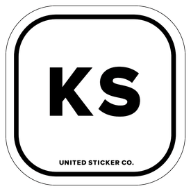 Badge_Lettering_Places_Kansas [ KS ]_Vinyl_Sticker
