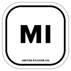 Badge_Lettering_Places_Michigan [ MI ]_Vinyl_Sticker
