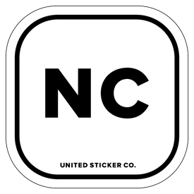 Badge_Lettering_Places_North Carolina [ NC ]_Vinyl_Sticker