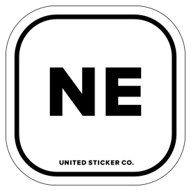Badge_Lettering_Places_Nebraska [ NE ]_Vinyl_Sticker